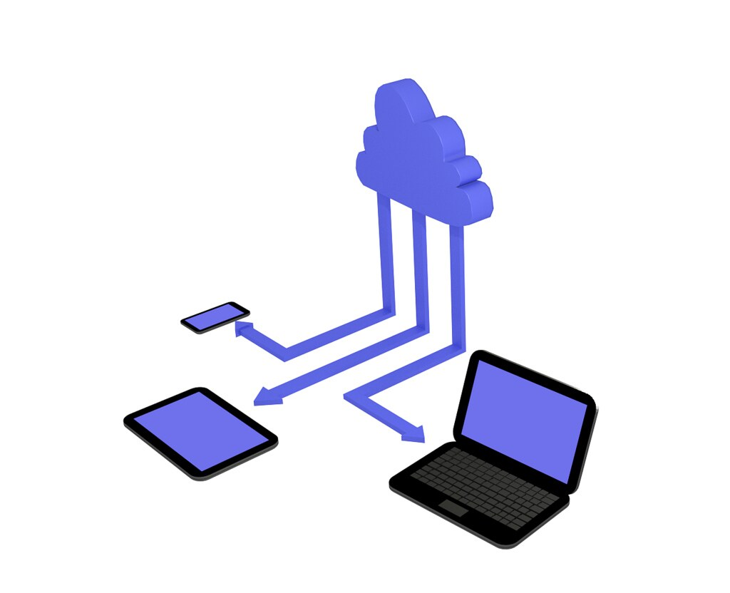Visual representation of cloud computing