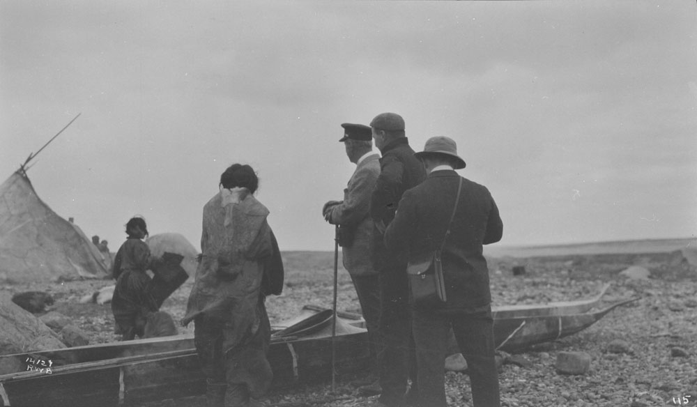 Kayaks in Churchill, 1910