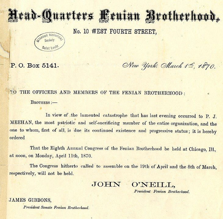 Fenian Brotherhood Telegram