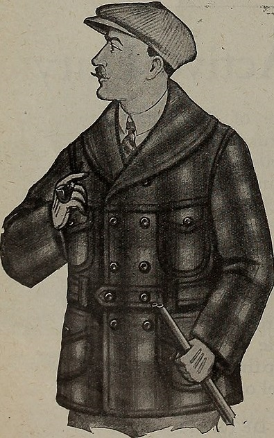 Image of Makinaw coat in Canada Lumberman, 1921.