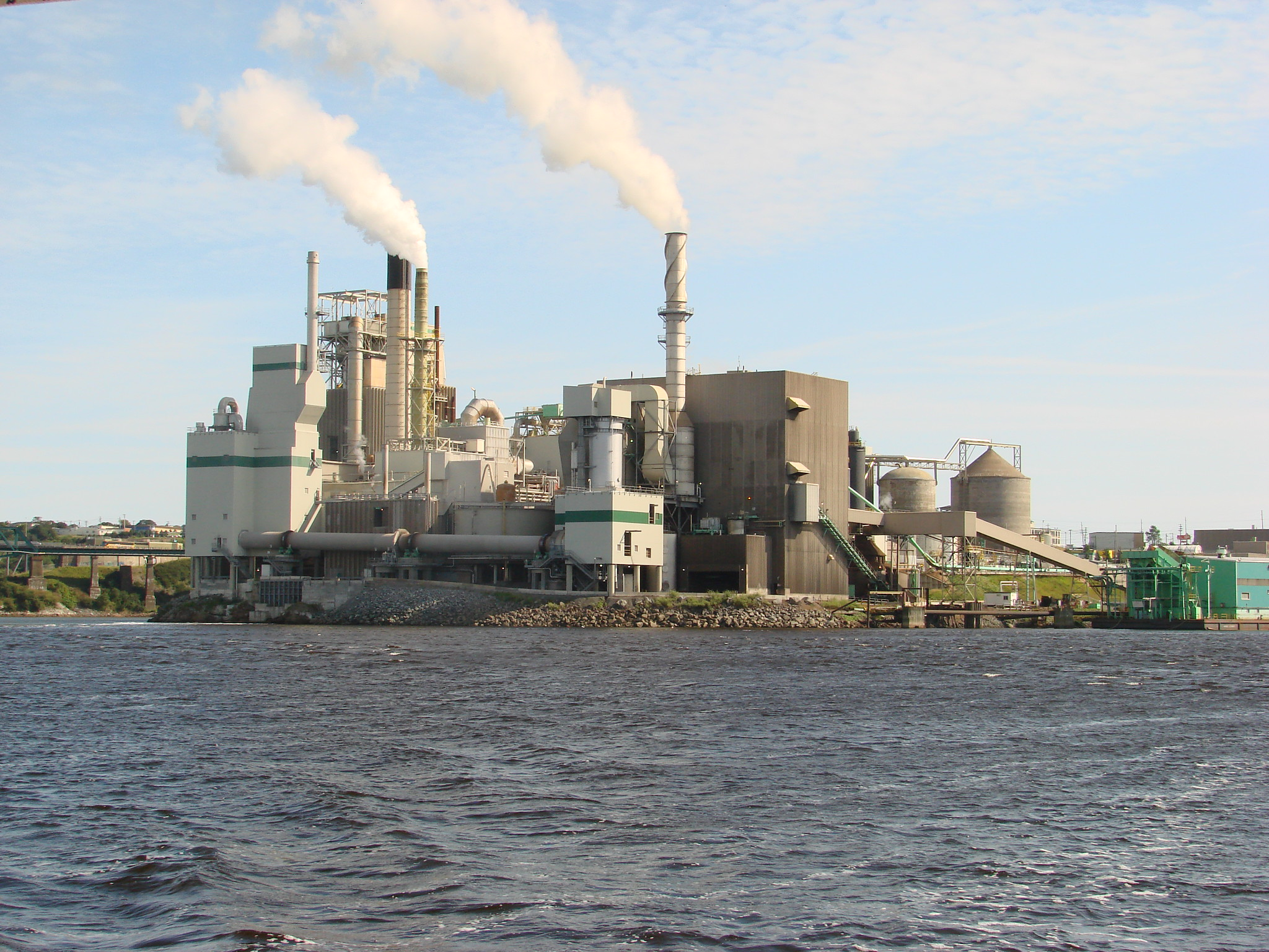 Photo of the Irving Pulp and Paper Mill