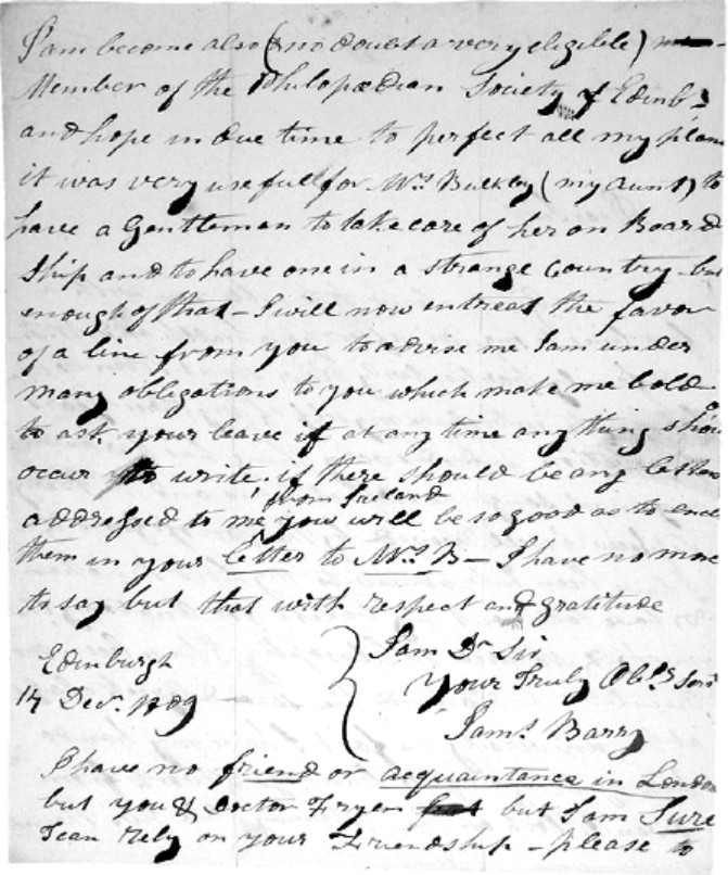 James Barry Letter