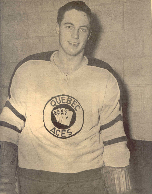 Jean Beliveau With the Quebec Aces