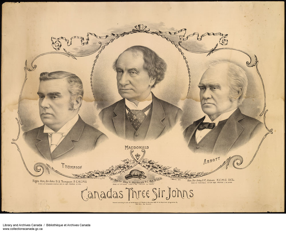 Sir John D. S. Thompson, Sir John A. Macdonald, Sir