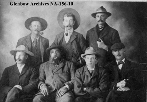Photo of John Ware and fellow ranchers