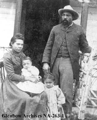 Photo of John Ware and family