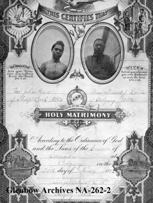 John Ware's marriage certificate