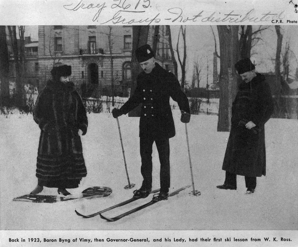 Governor General Byng and Lady Byng On Skis
