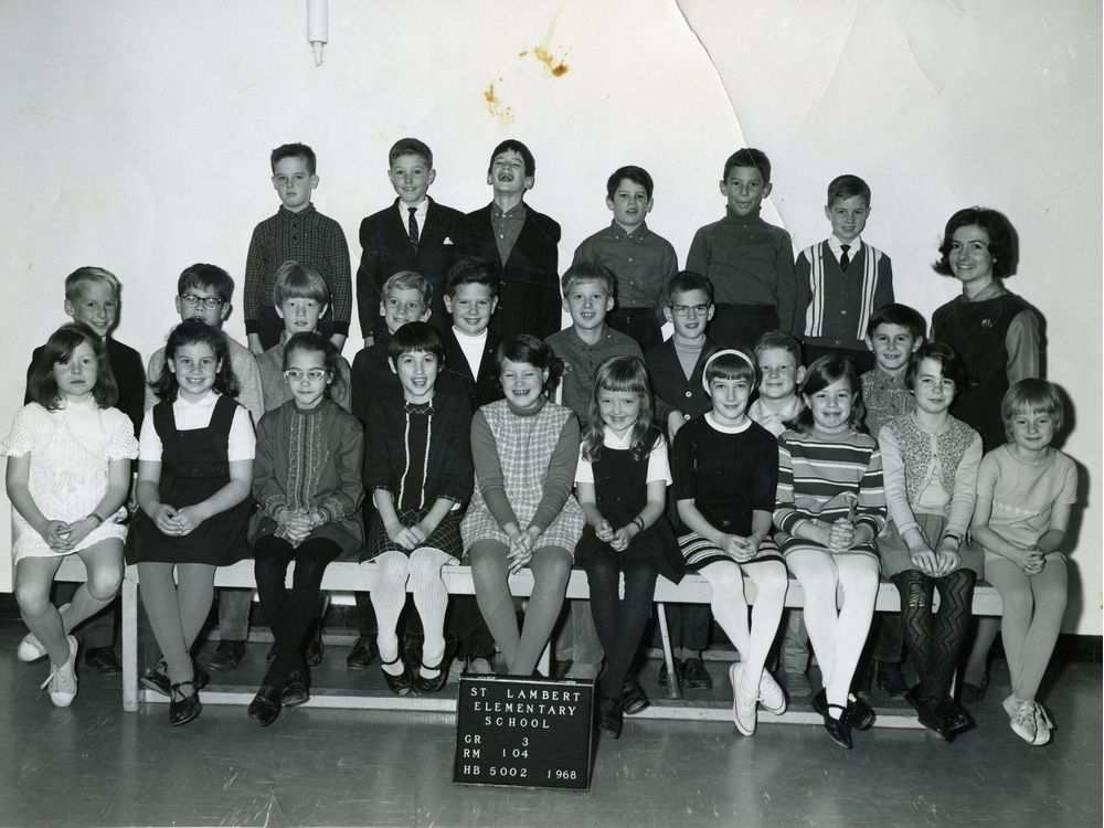 The grade 3 class at St-Lambert Elementary School (1968).
