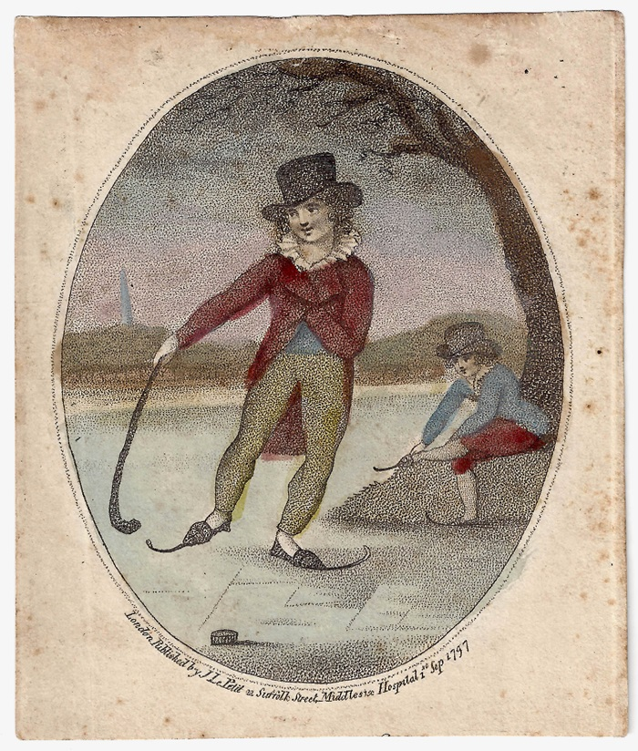 Engraving of Hockey-Like Activity, 1797