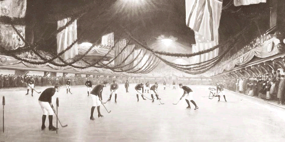 Hockey Game in Montreal, 1893