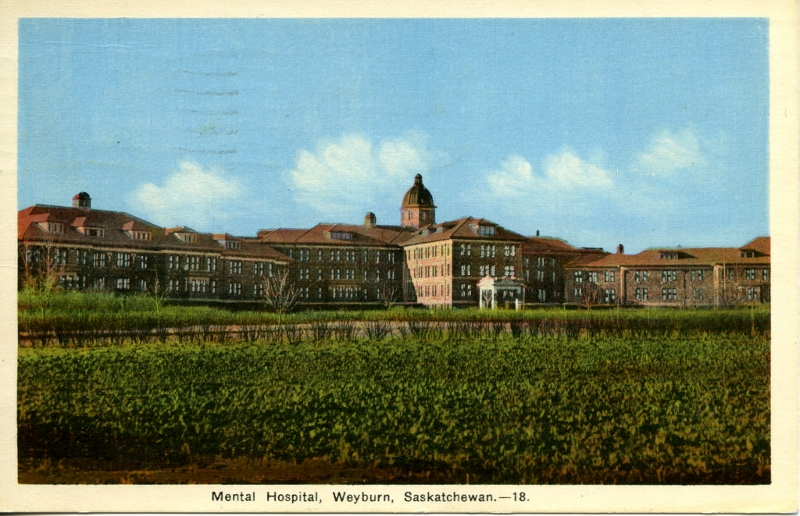 Postcard of the Weyburn Mental Hospital