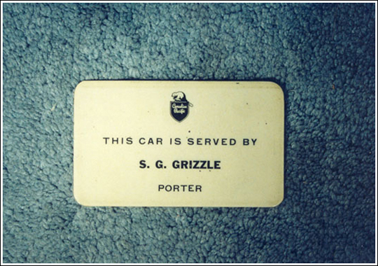 Stanley G. Grizzle's Sleeping Car Plaque