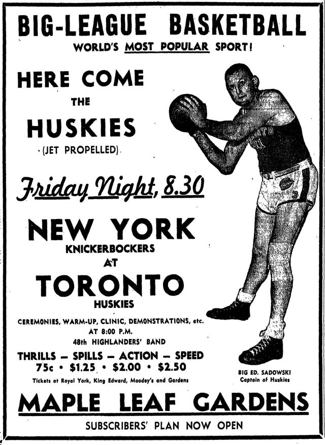 Huskies vs. Knickerbockers 1946