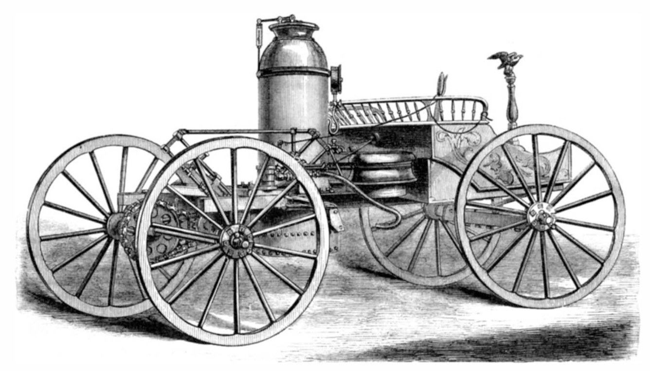 Illustration de la Ware Steam Carriage