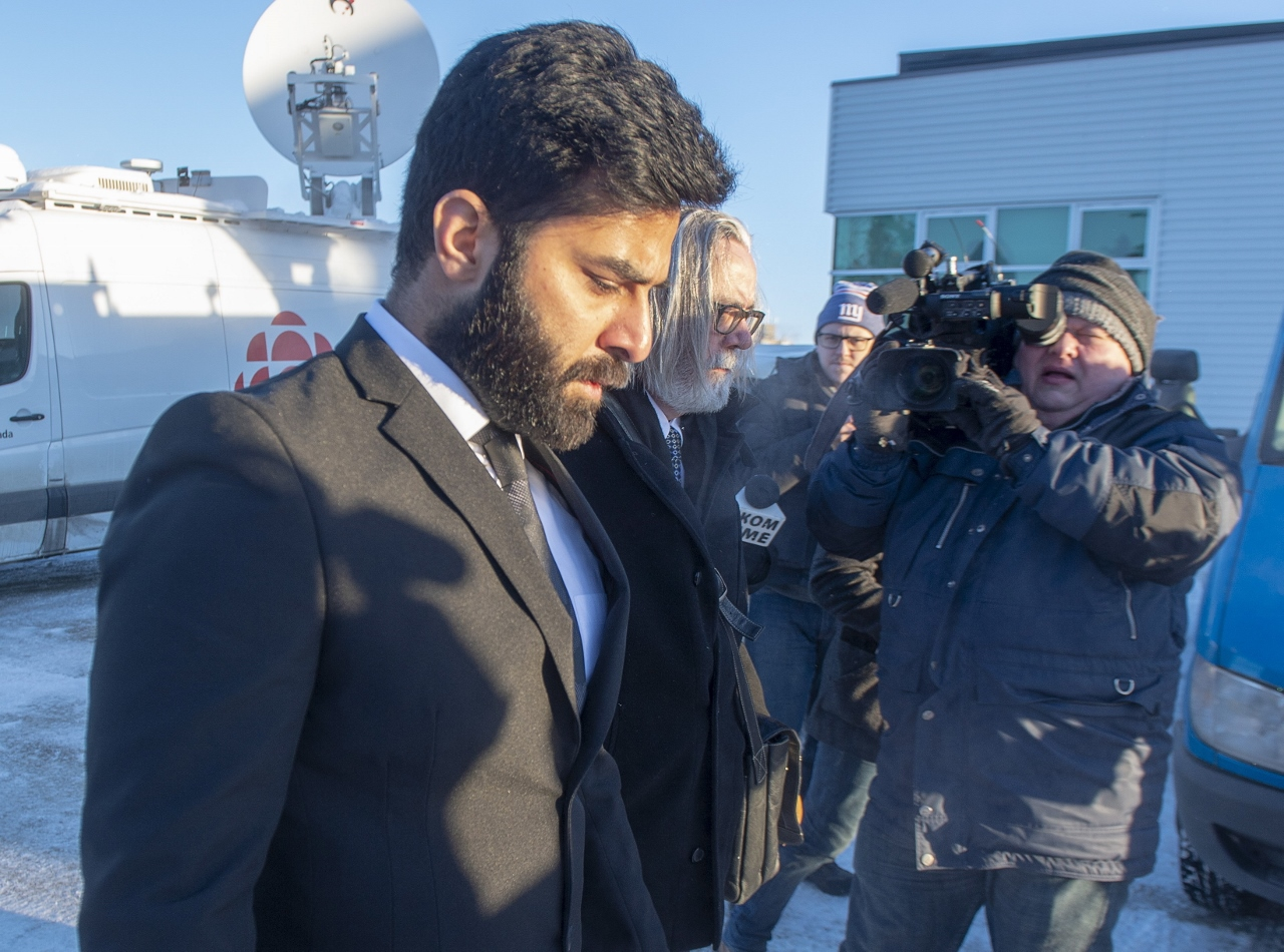 Photo of Jaskirat Singh Sidhu arriving at court for his sentencing hearings