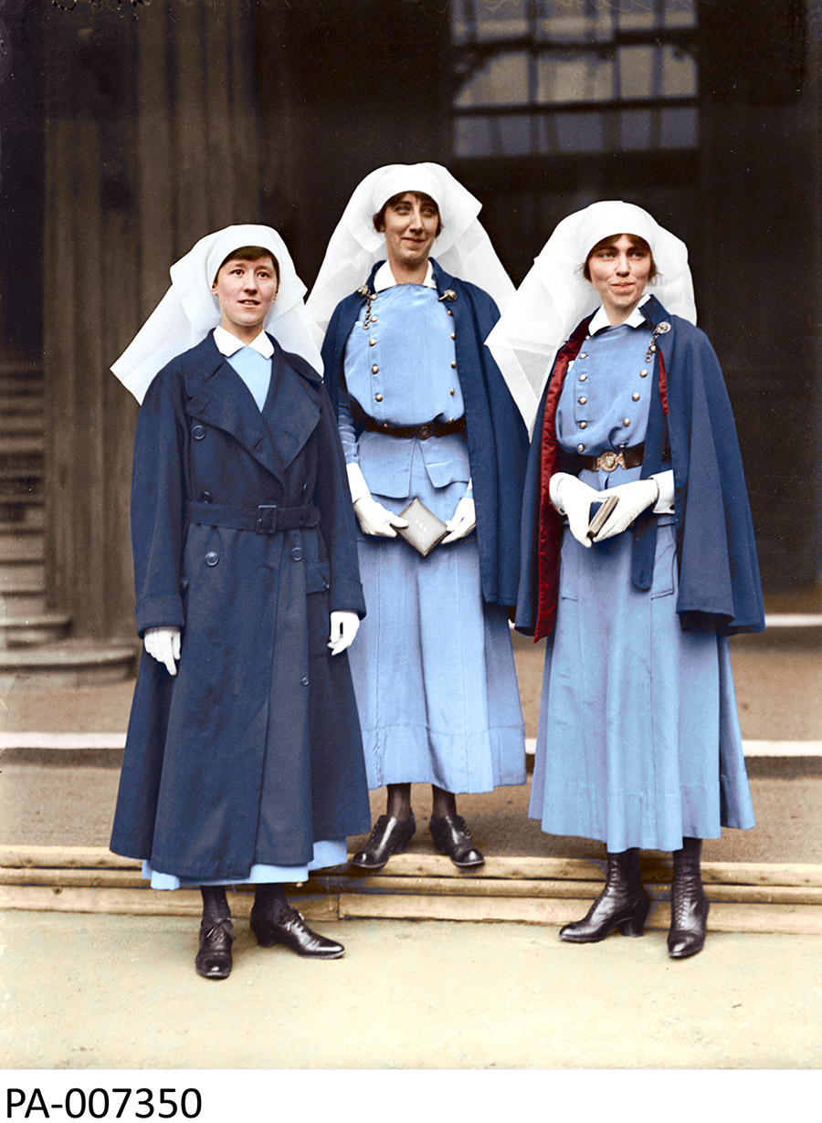 Left to right: Nursing Sisters, Mowat, McNichol, and Guilbride.