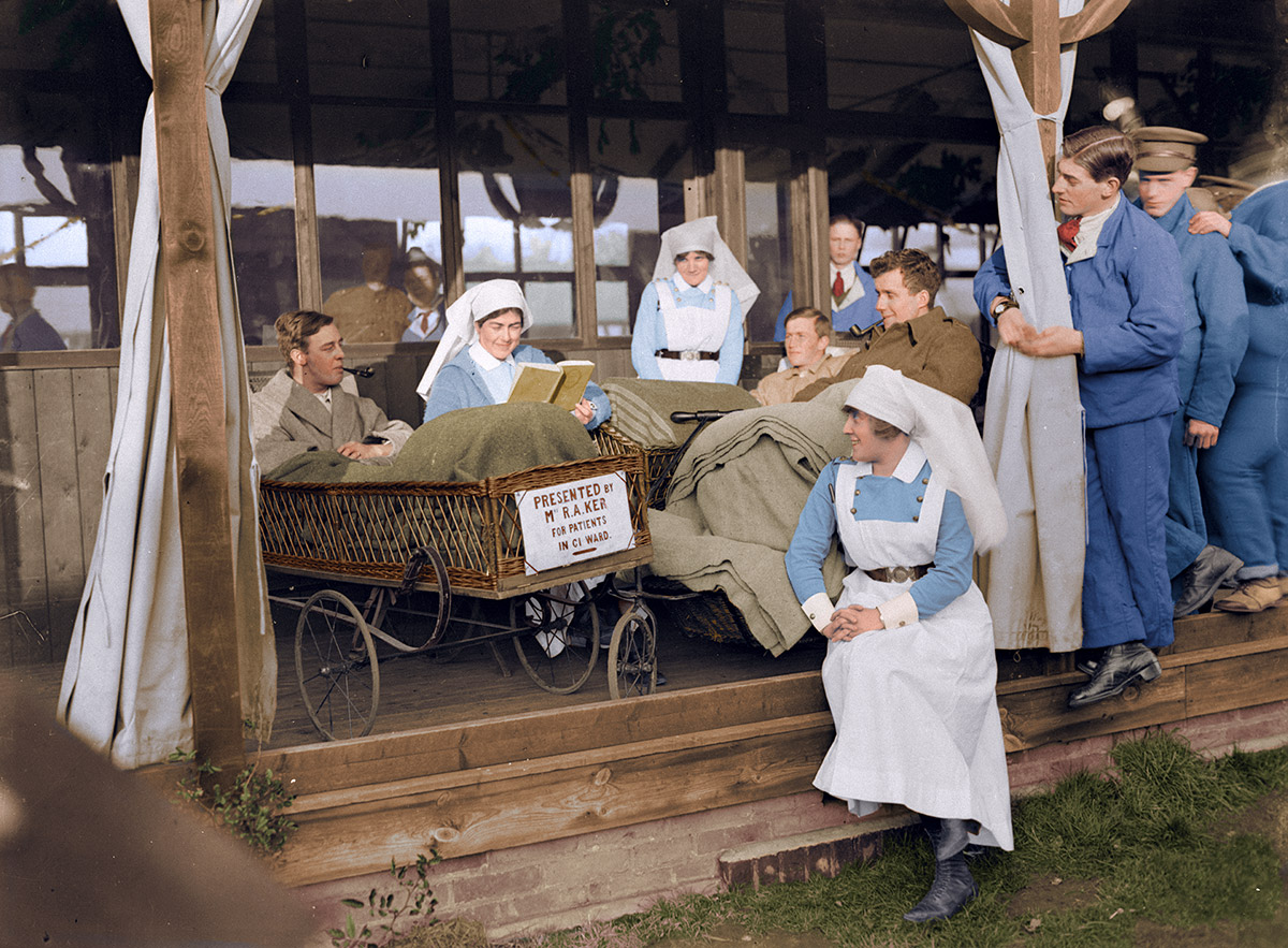 Views taken on Christmas Day 1917, at Duchess of Connaught Red Cross Hospital, Taplow.