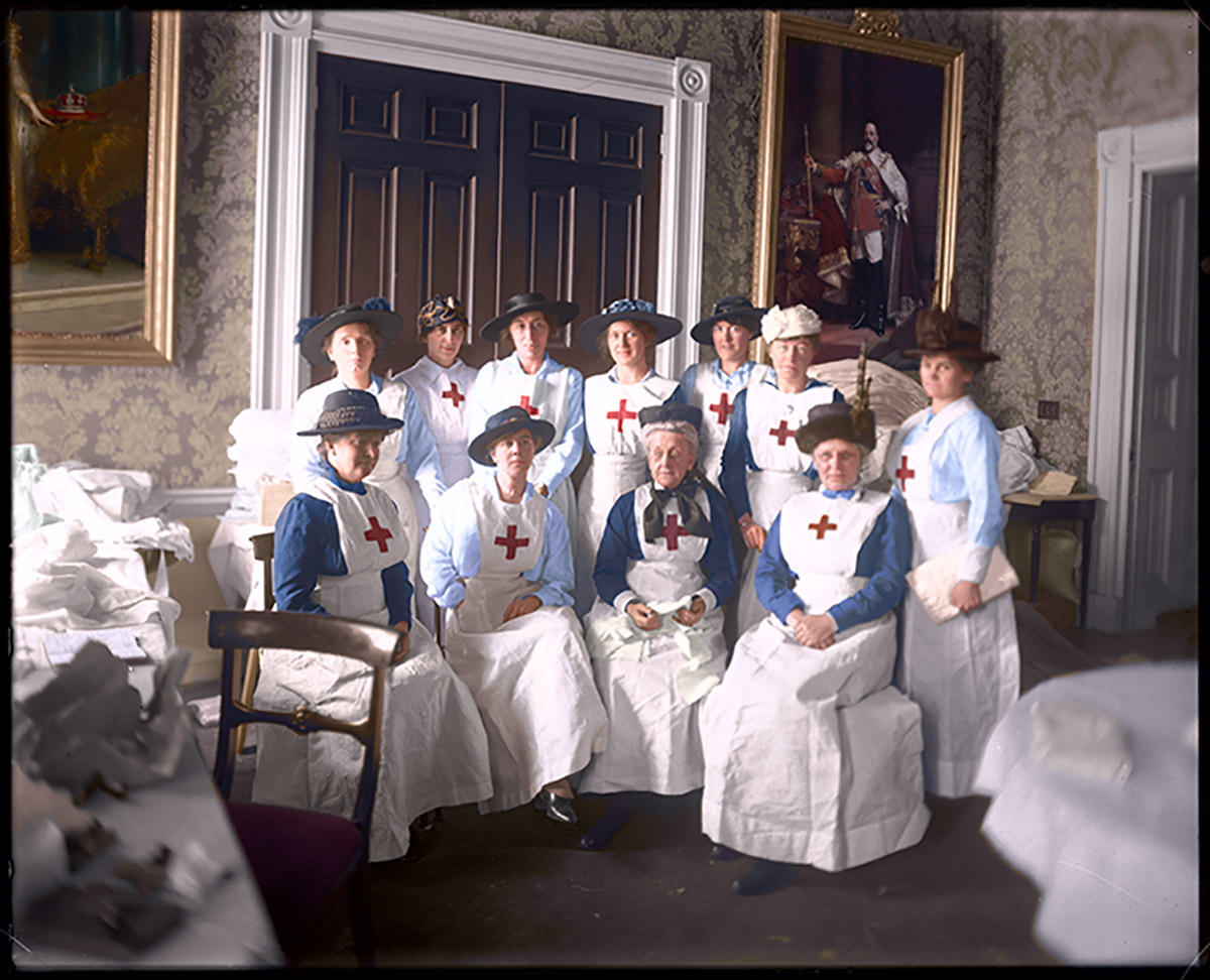 Red Cross workers at Government House, Feb. 1917.